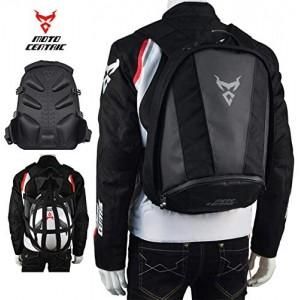 Motorcycle Leather Waterproof Backpack Riding Laptop Helmet Shoulder Bag Package【Gray,】