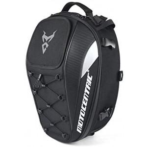 Motorcycle Rear Seat Backpack Motorcycle Bag Large Capacity Motorcycle Bag 11-MC-0102【Gray,】