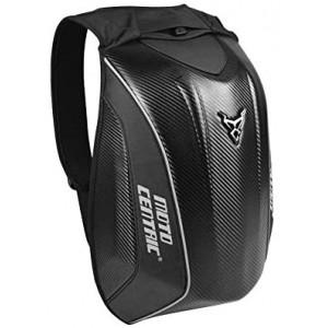 Motorcycle Backpack, Carbon Fiber Riding Bag, Waterproof Large Capacity MC Backpack, Cycling Helmet Storage, Rider Motorcycle Hiking Helmetcatch Bag, Hard Shell Turtle Bag【Black,】