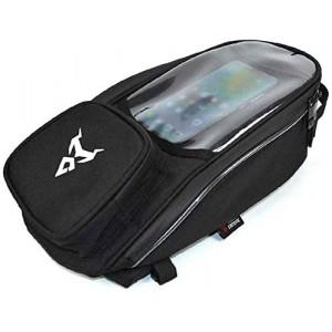 Large Mobile Screen Navigation Bag Universal Motorcycle M-agnetic Fuel Tank Slung Shoulder Bag【Gray,】